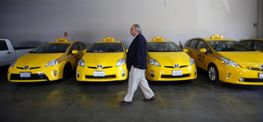 Anthony Palmeri, president of Yellow Cab San Diego, isn't ready to concede defeat to his more tech-savvy rivals.