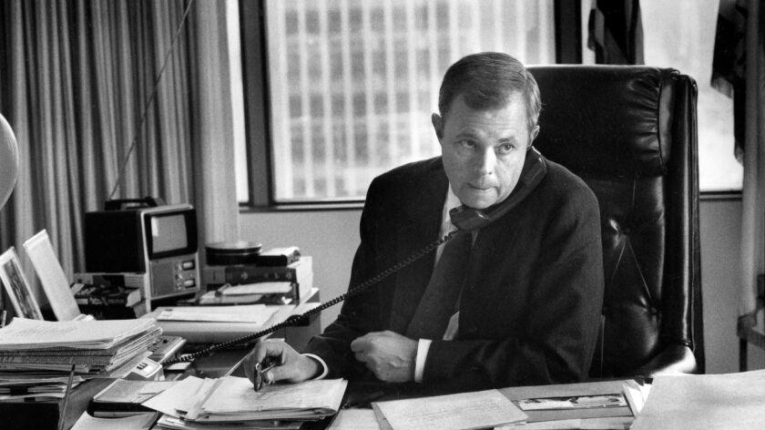John Van de Kamp when he was attorney general in 1988.