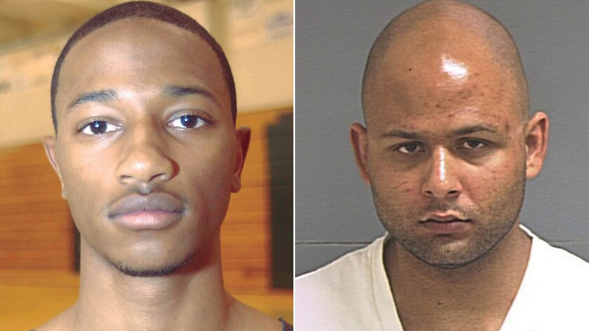 Elton Simpson, left, and Nadir Soofi opened fire outside the Garland, Texas, event center.