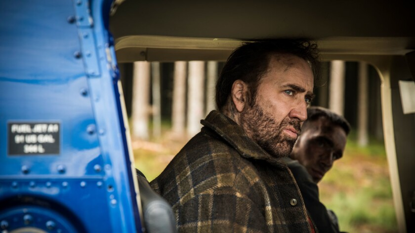 """Nicolas Cage as Red in the action, thriller film """"MANDY"""" an RLJE Films release. Photo courtesy of RL"""