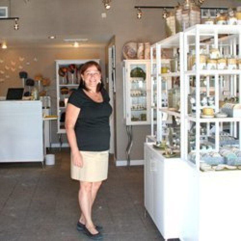Elizabeth Janecka at her shop.