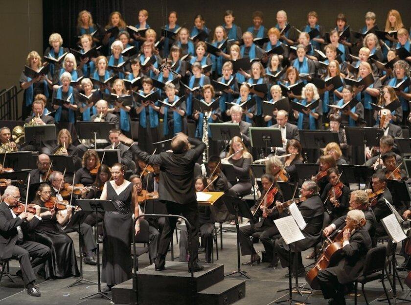 Steven Schick conducting the La Jolla Symphony & Chorus