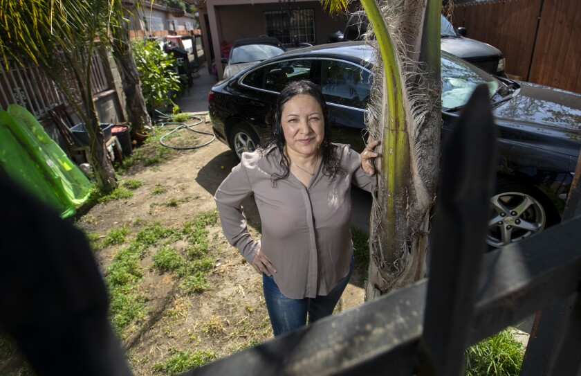 Nicolasa Huerta, 47, was laid off from her job as a truck driver transporting goods from China.