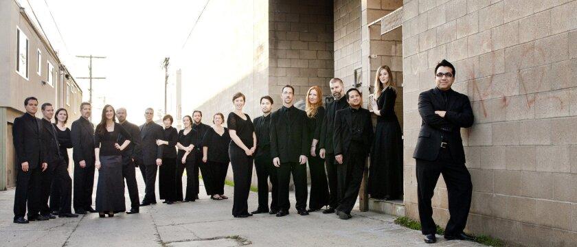 Right: Ruben Valenzuela, music director of Bach Collegium.