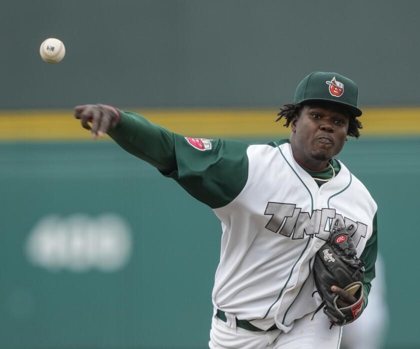 Padres pitching prospect Moises Lugo began the 2021 season at high Single-A Fort Wayne