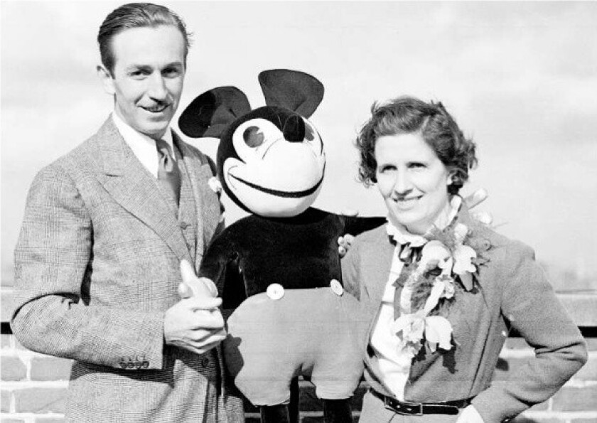 Walt and Lillian Disney and friend in 1935.