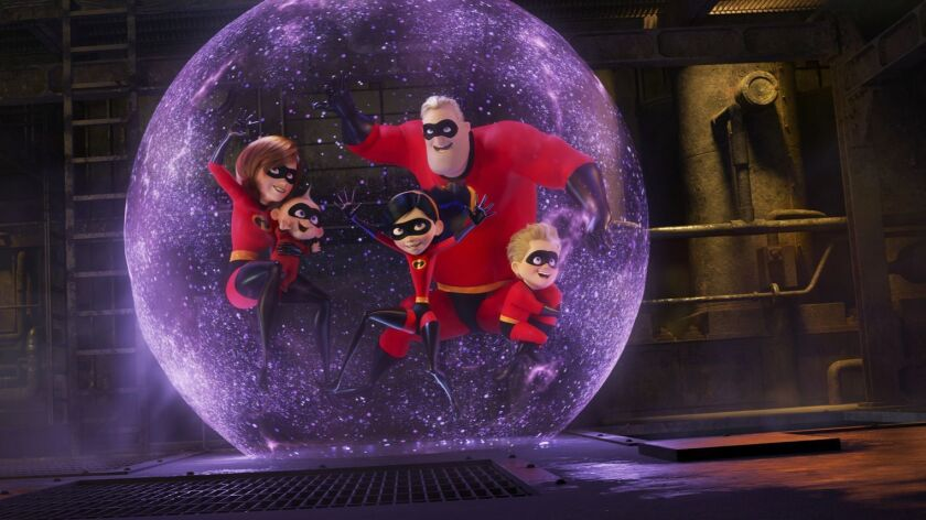 """Disney Pixar's """"Incredibles 2"""" smashed records this weekend for highest opening of an animated film and highest opening of a PG-rated film with $180 million in domestic and Canadian receipts."""