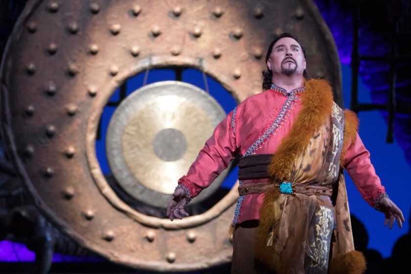 """Tenor Carl Tanner returns to the San Diego Opera stage in """"Aida,"""" opening Oct. 19. He starred as Calaf (pictured) here in """"Turandot"""" in 2018."""