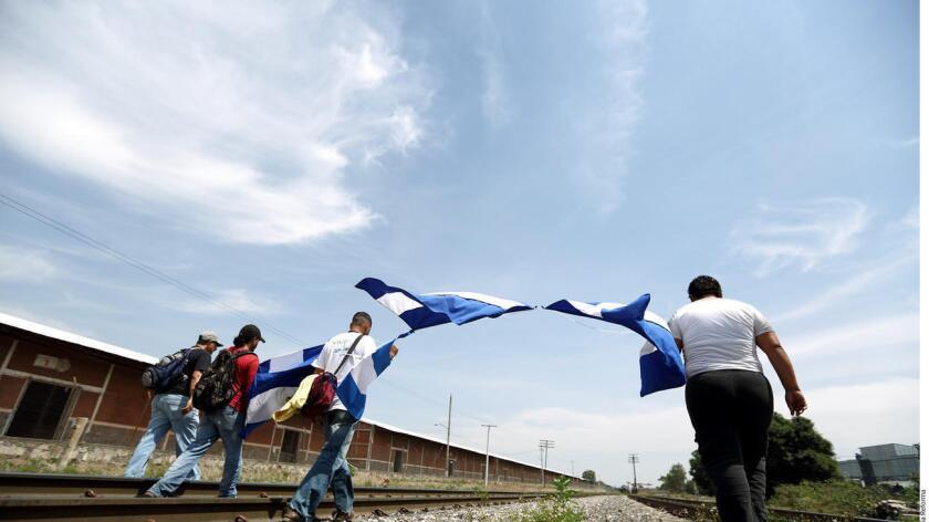 Foto de archivo de inmigrantes en México.