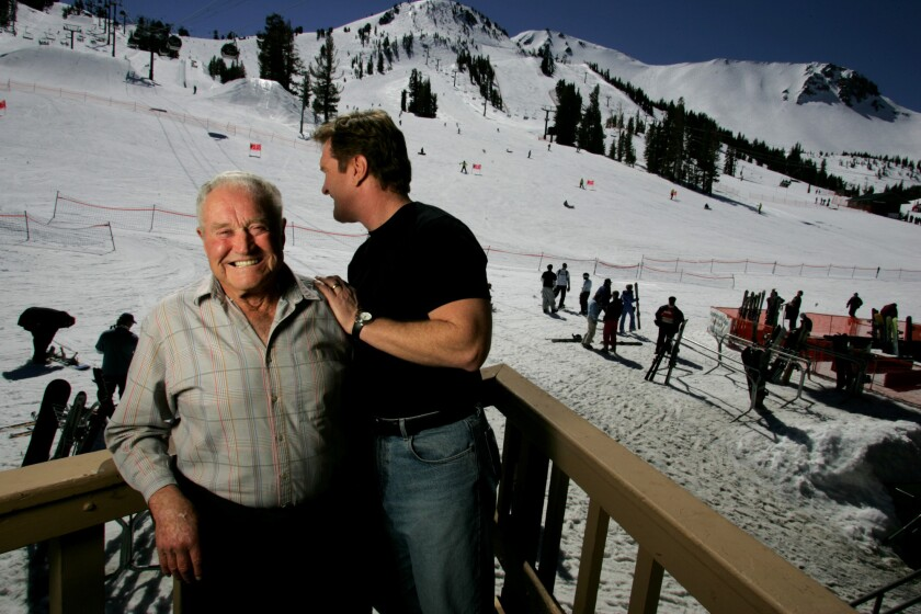 Dave McCoy and then-Mammoth CEO Rusty Gregory