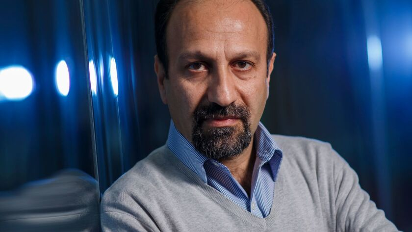 Iranian filmmaker Asghar Farhadi, in Los Angeles on Jan. 10, before the Trump administration's ban on travel to the U.S. from seven countries, including Iran.