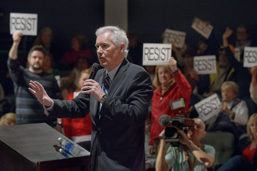 Rep. Tom McClintock (R-Elk Grove) faced a rowdy crowd of protesters at his packed town hall meeting over the weekend.
