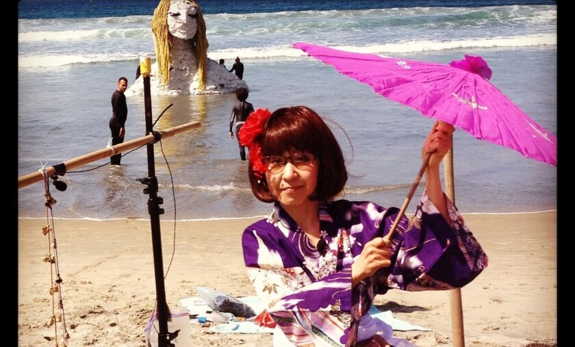 "Japanese musician Yumiko Tanaka creates a live soundscape for ""Seafoam Sleepwalk."""