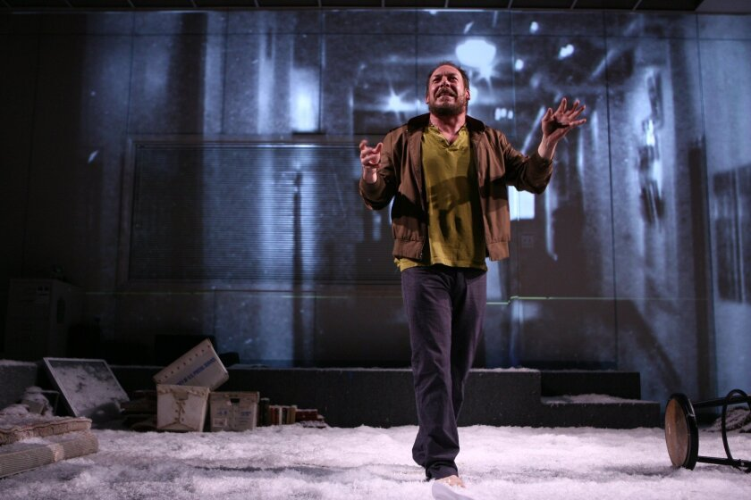 "Bill Camp in La Jolla Playhouse's production of Dostoevsky's ""Notes From Underground."" Joan Marcus"