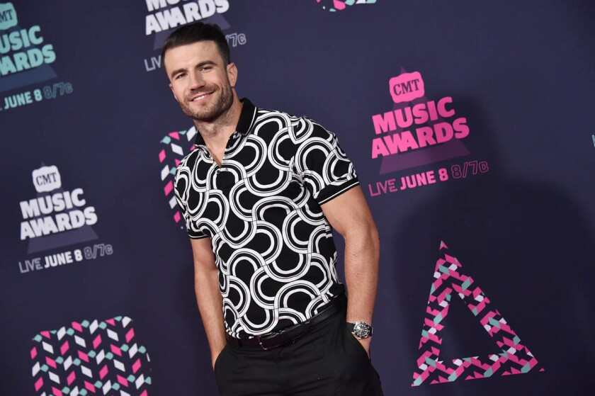 Country singer Sam Hunt will stop in San Diego during hist 2017 concert tour. (Mike Coppola/Getty Images for CMT)