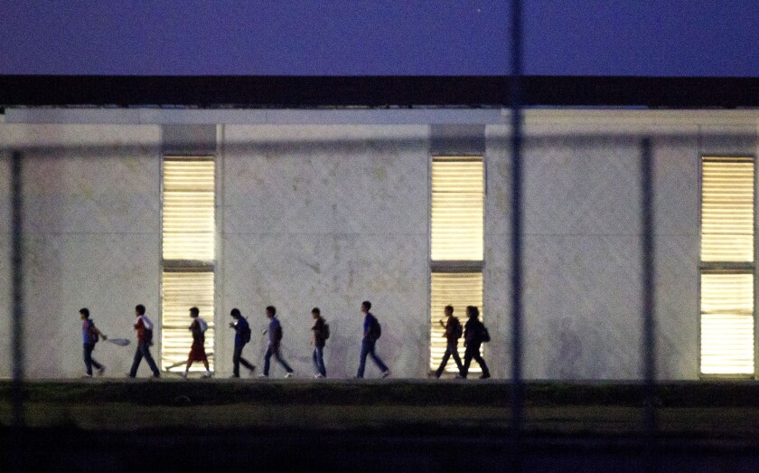 Immigrant children who come into the U.S. alone are housed in shelters like this one in Harlingen, Texas which is licensed to hold as many as 290. The Obama administration announced the opening of two more facilities in Texas and California.