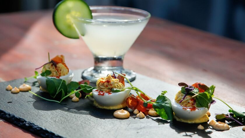 SAN DIEGO, CA October 12th, 2018 | This is the 619 Deviled Eggs with a Cucumber Martini made with 61