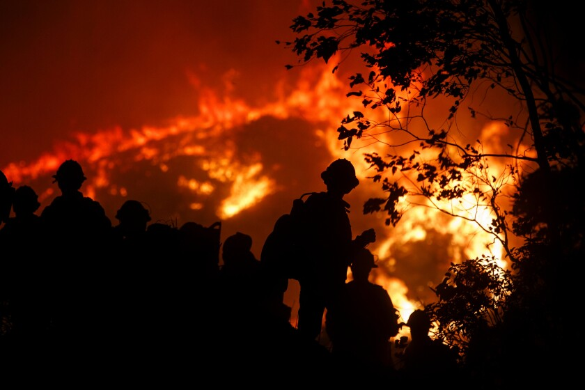 Firefighters had to scramble last week to contain the Saddleridge fire in Sylmar