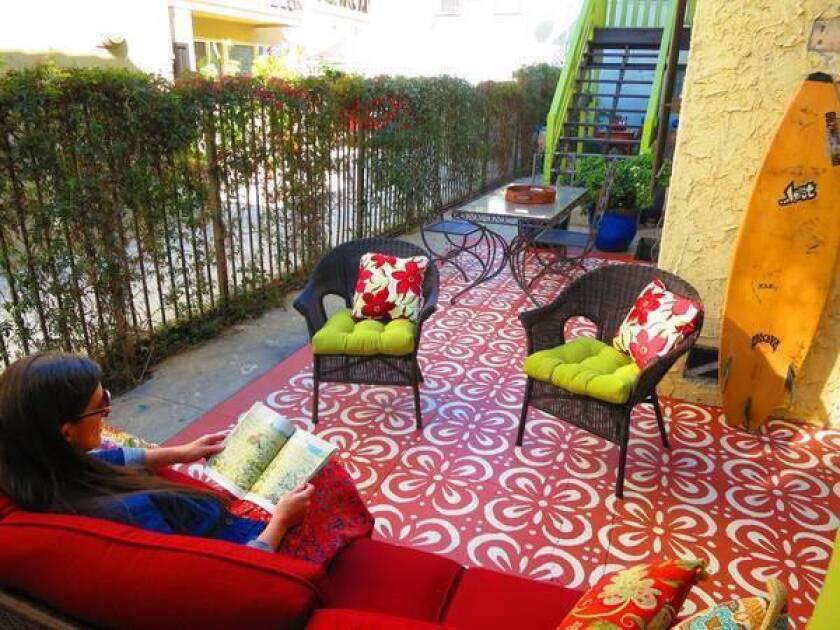 DIY painted patio