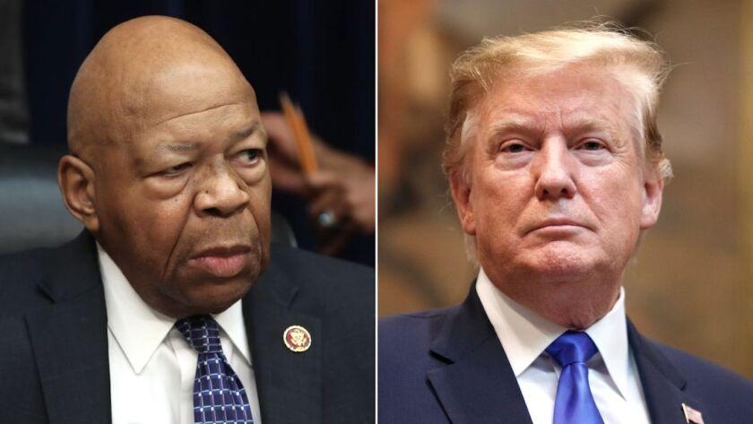 El legislador demócrata Elijah Cummings fue centro de ataques del presidente Trump.