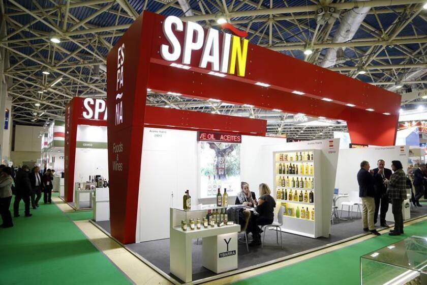 Vista del pabellón de España de la feria de alimentación ProdExpo inaugurada hoy en Moscú, Rusia. EFE