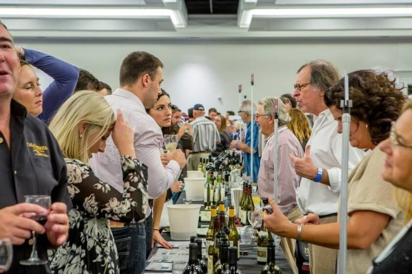 Wine pros and enthusiasts tasted their way through countless wines at Friday's SommCon Trade Tasting at the Manchester Grand Hyatt. Pouring his Bonny Doon wines was Randall Grahm (right, with eyeglasses) one of California's iconic winemakers.