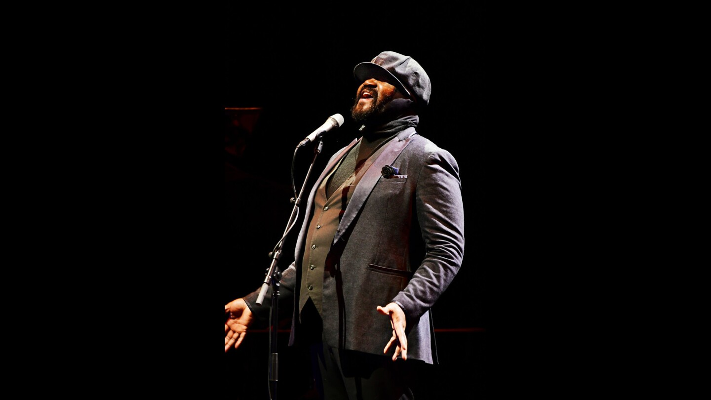 Jazz singer Gregory Porter is seen performing Wednesday at the Theatre at Ace Hotel.