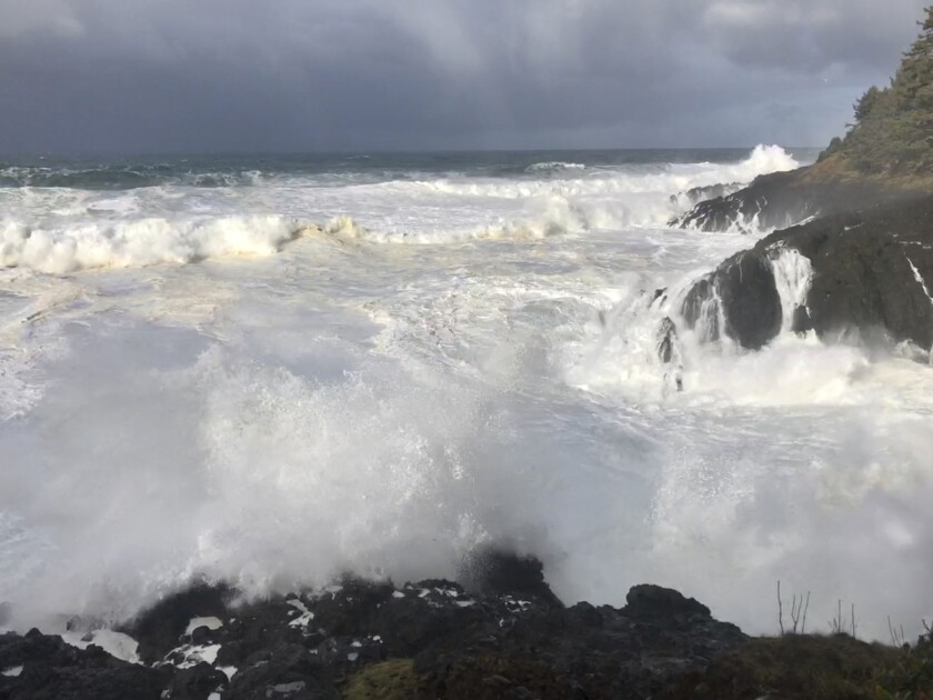 Oregon Swept Into Ocean
