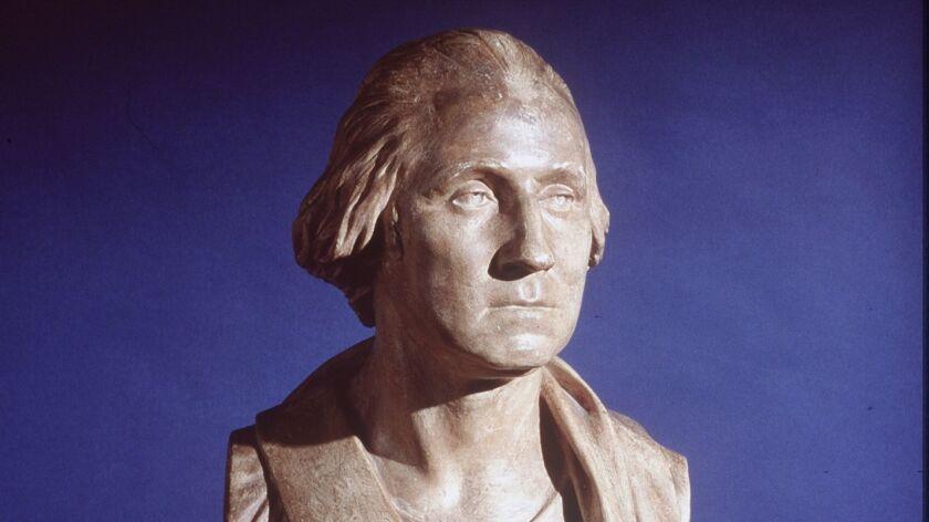A bust of George Washington.