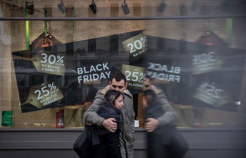 Black Friday shopping in Prague, Czech Republic