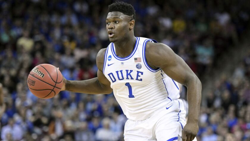 wholesale dealer 822e0 11d43 Zion Williamson entering NBA draft after one year at Duke ...