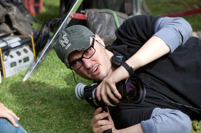 "Director Josh Trank lines up a shot on the set of his 2012 film ""Chronicle."""