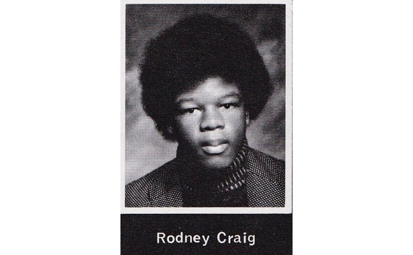 Rodney Craig, pictured in the Narbonne High School 1975 yearbook.