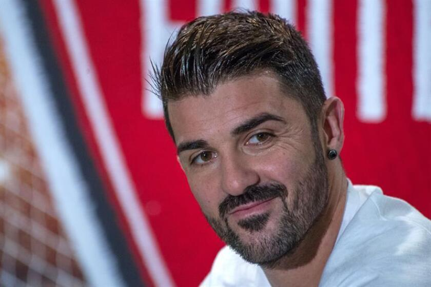 El futbolista español del New York City David Villa. EFE/Archivo
