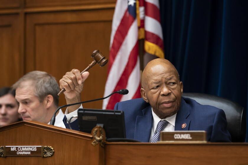 House Oversight and Reform Committee Chairman Elijah E. Cummings