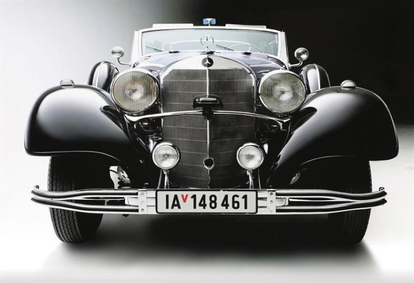 Fotografía cedida por la firma Worldwide Auctioners sin fechar donde se observa el automóvil Mercedes-Benz modelo W150 770k Grossers Offener Tourenwagen, que fue utilizado por Adolf Hitler y se subastó en Arizona ayer, miércoles 17 de enero de 2018, en Tucson (EE.UU.). Un Mercedes del año 1939 que fue utilizado por Adolf Hitler no encontró comprador en una subasta realizada anoche en Tucson, Arizona (EE.UU.) al no alcanzarse el precio mínimo, informó hoy, jueves 18 de enero de 2018, a Efe la firma Worldwide Auctioners. EFE/Worldwide Auctioneers/SOLO USO EDITORIAL/NO VENTAS