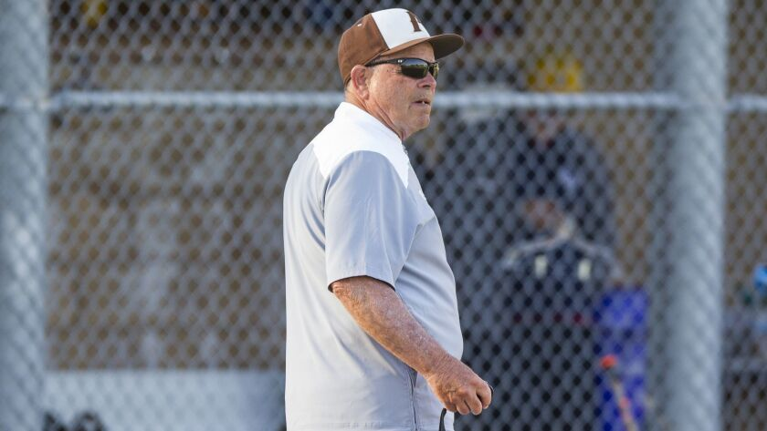 Francis Parker baseball coach David Glassey (shown at an earlier game) guided the Lancers to their first title in the Saints Bill Whittaker Classic.