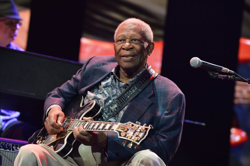 B.B. King during a show in April 2013.