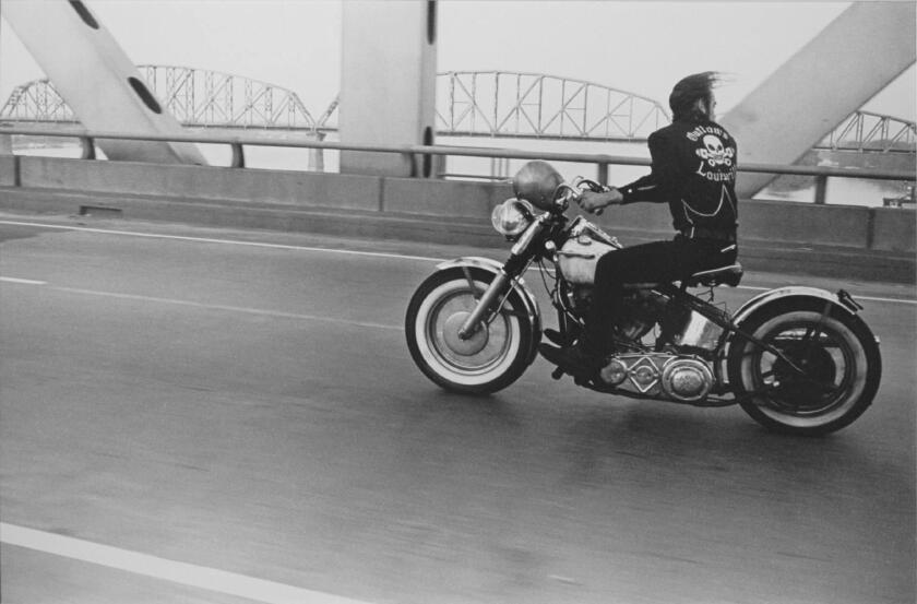 """""""Crossing the Ohio,"""" 1966, by Danny Lyon, at Kopeikin Gallery."""