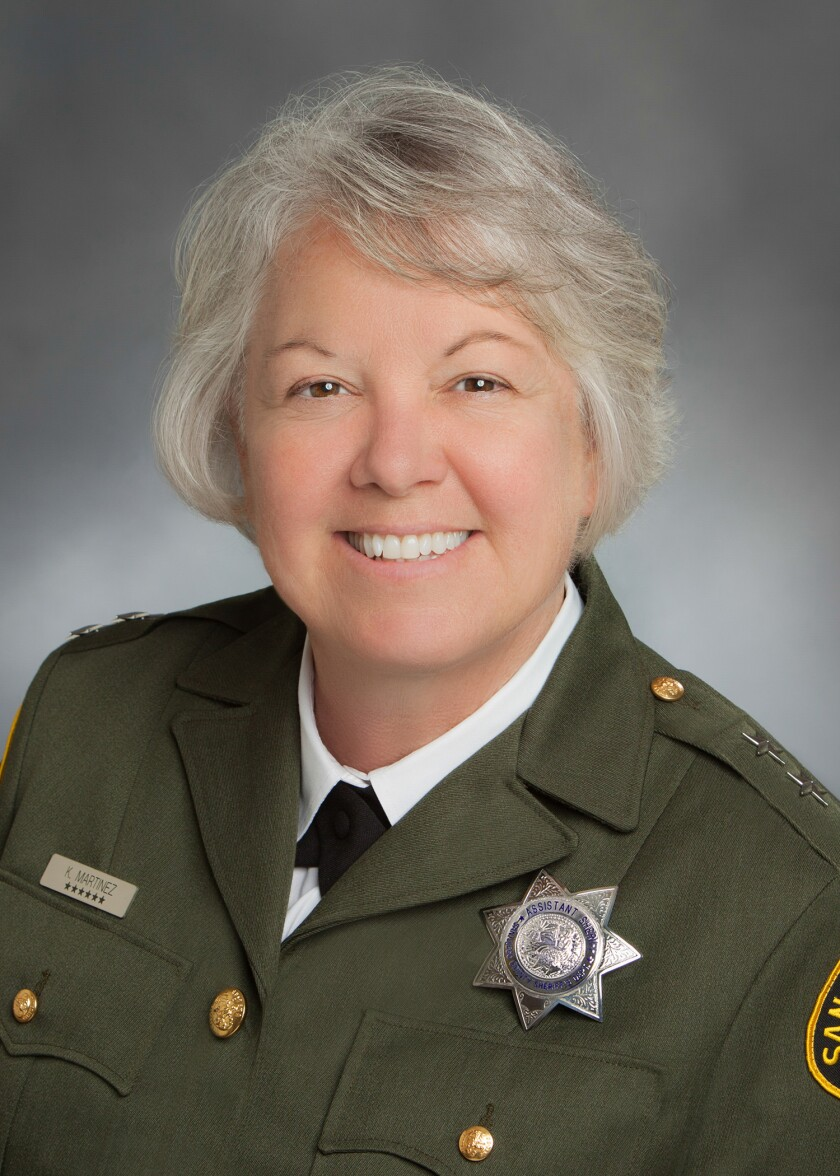 Assistant Sheriff Kelly Martinez was appointed undersheriff.