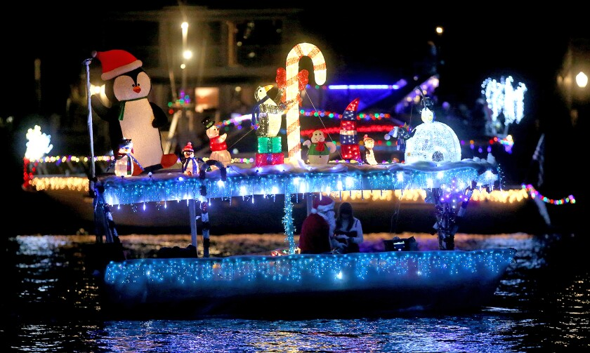 A colorful Duffy boat moves along the route.