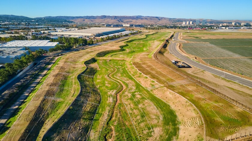 An area of land in Irvine is being restored to its natural state.