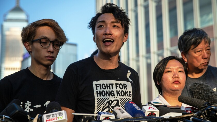 Civil Human Rights Front news conference, Hong Kong, China - 15 Jun 2019