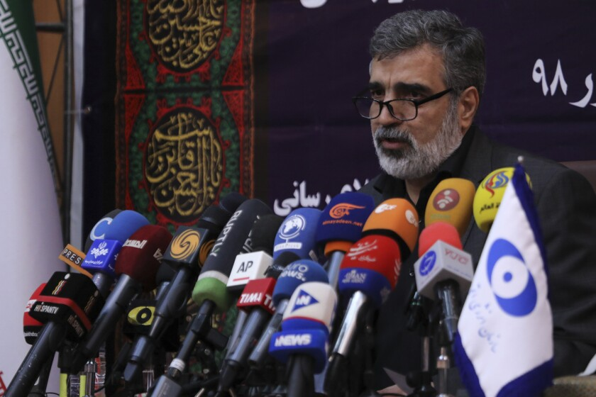 Behruz Kamalvandi, a spokesman for Iran's Atomic Energy Organization, said the Islamic Republic has activated a chain of advanced centrifuges.