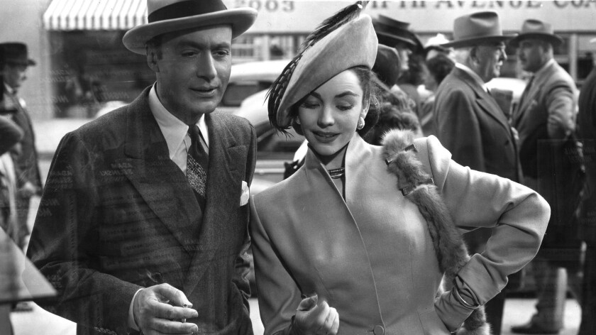"Charles Boyer and Jennifer Jones in ""Cluny Brown."""