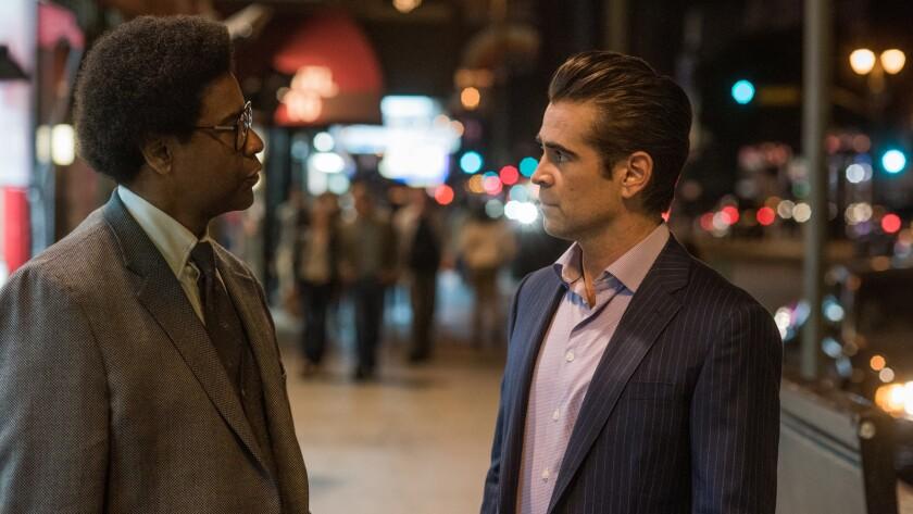 "(L-R) - Denzel Washington and Colin Farrell star in Columbia Pictures' movie ""Roman J. Israel Esq."""