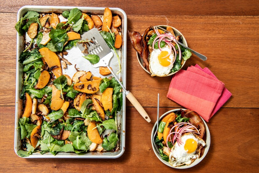 Bacon-Basted Root Vegetable Hash