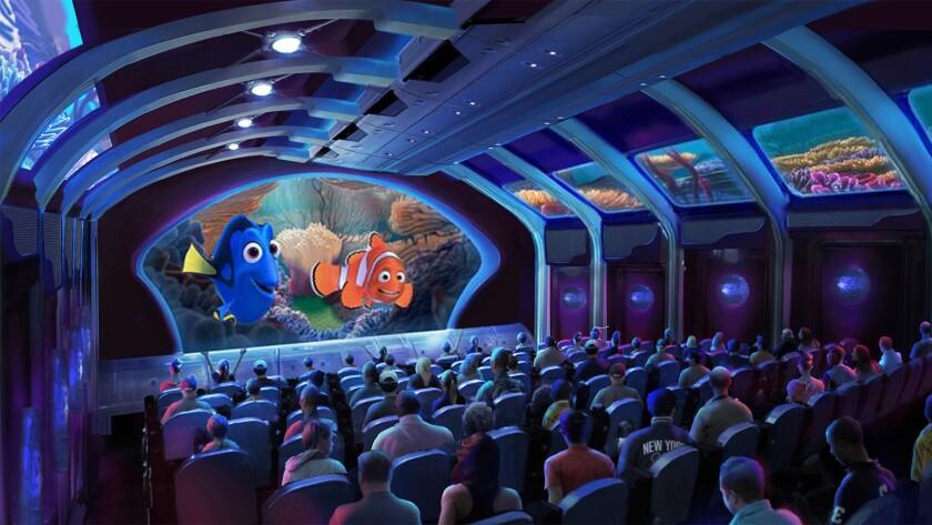 Rendering of the Finding Dory simulator ride at Tokyo DisneySea.