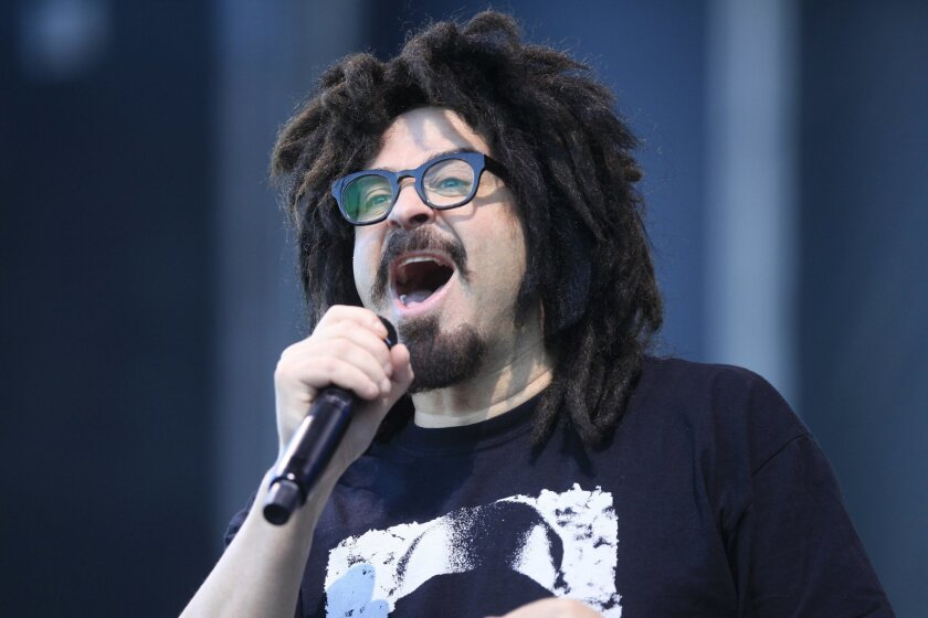 Adam Duritz of the Counting Crows performed their best known hits on the Sunset Cliffs stage during Kaaboo Del Mar on Saturday.