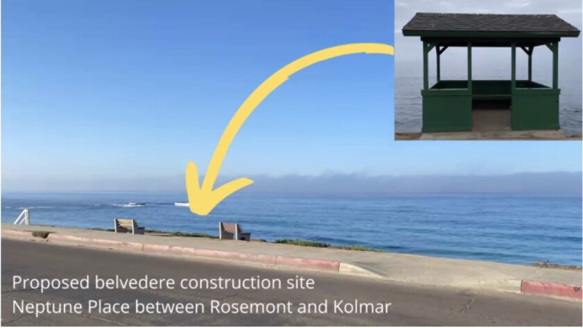 A belvedere proposed for Windansea Beach was recently approved by the La Jolla Community Planning Association.